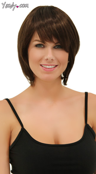 Rich Chocolate Short Bob Wig