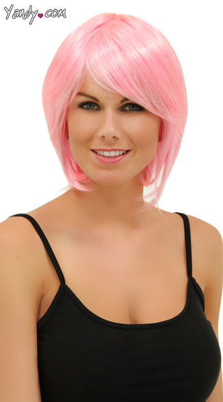 Cotton Candy Short Bob Wig, Pink Wig, Pink Bob Wig