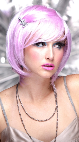 Light Purple Short Bob Wig