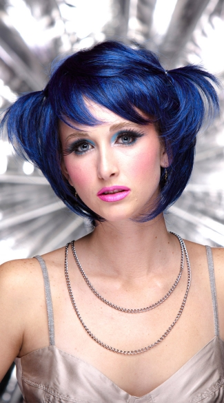 Midnight Blue Short Bob Wig