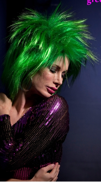 Green Haze Punk Wig