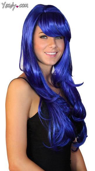 Deluxe Long Dark Blue Wig