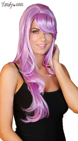 Deluxe Long Violet Wig