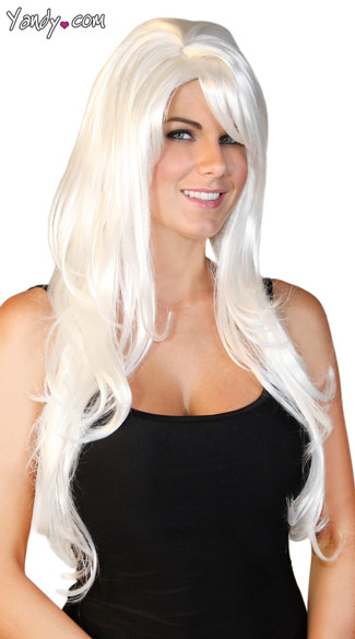 Deluxe Long White Wig