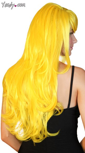 Deluxe Long Yellow Wig
