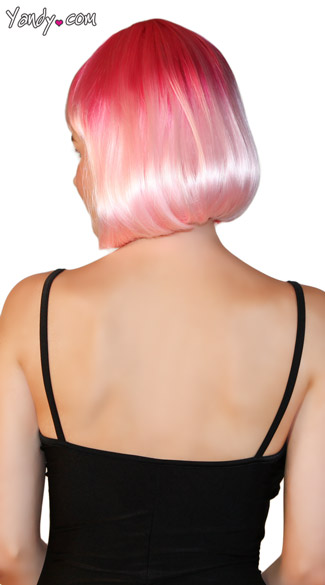 Deluxe Bobbed Flamingo Pink Wig