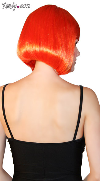 Deluxe Bobbed Orange Lava Wig