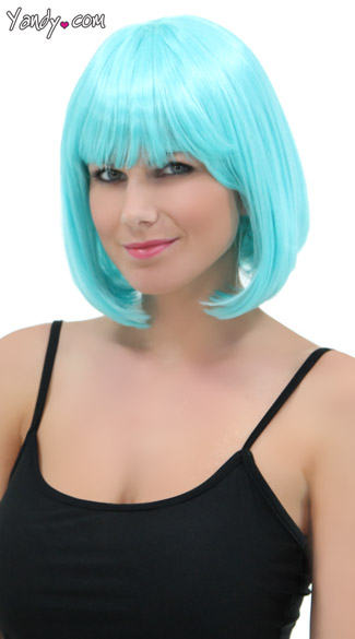 Deluxe Bobbed Light Blue Wig