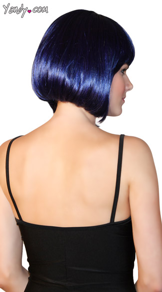 Deluxe Bobbed Midnight Blue Wig