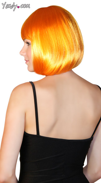 Deluxe Bobbed Orange Wig