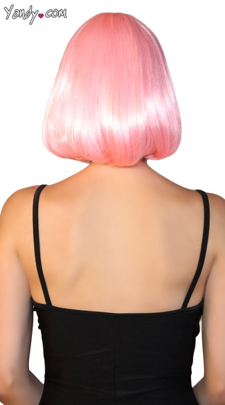Deluxe Bobbed Baby Pink Wig