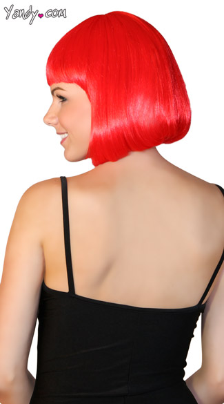 Deluxe Bobbed Red Wig