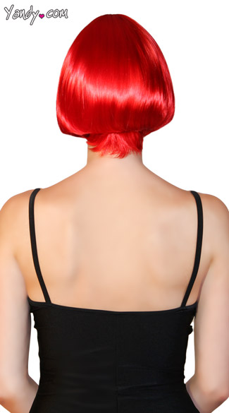 Deluxe Dark Red Mini Bob Wig
