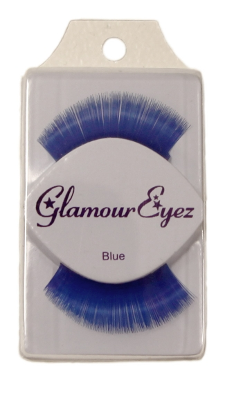 Super Thick Blue False Eyelashes, Colored Eyelashes, Artificial Eyelashes