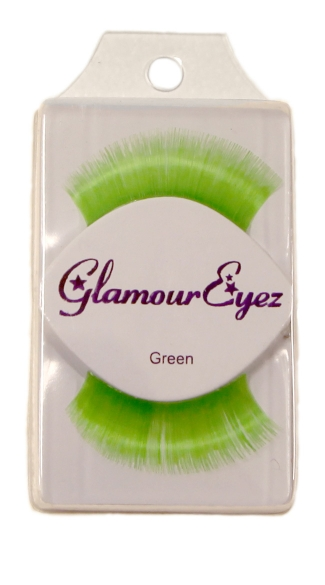 Neon Green Eyelashes, Colorful Fake Eyelashes, Colored False Lashes