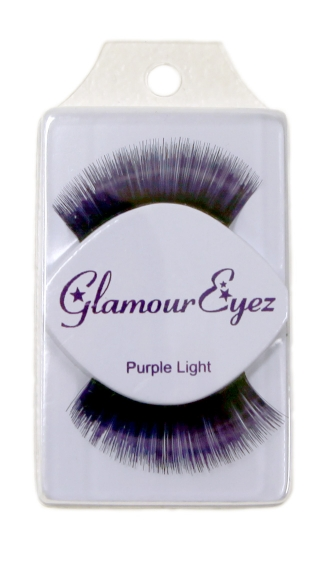 Long Purple Eyelashes