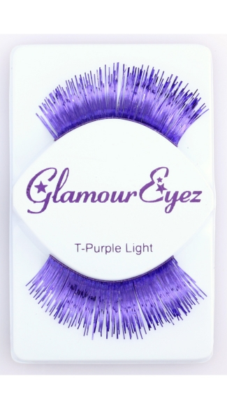 Metallic Purple Eyelashes, Colored Eyelashes, Metallic Eyelashes