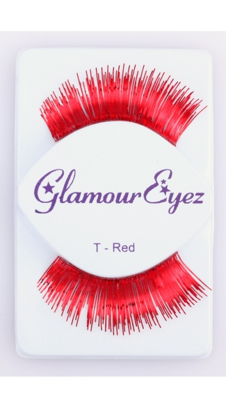 Metallic Red Eyelashes