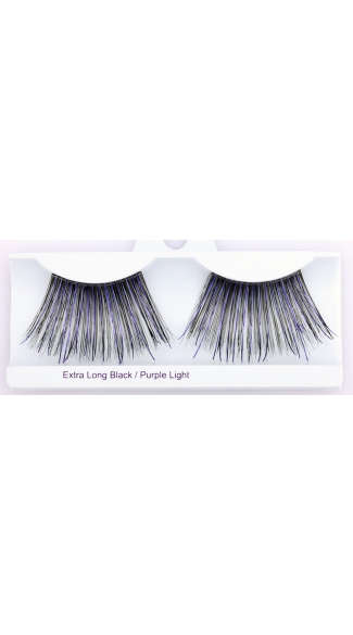 Extra Long Black with Purple Eyelashes