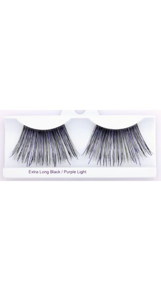 Extra Long Black with Purple Eyelashes, Colored Eyelashes, Long Eyelashes