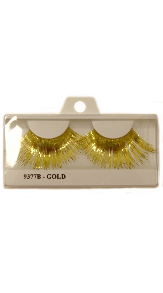 Long Metallic Gold Eyelashes