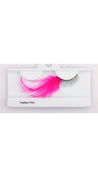 Pink Feather Eyelash, Feather Eyelashes, Costume Eyelashes