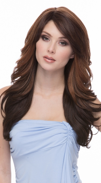 Flirty In Chestnut Layered Wig, Brown Layer Wig, Natural Light Brown Wig with Layers