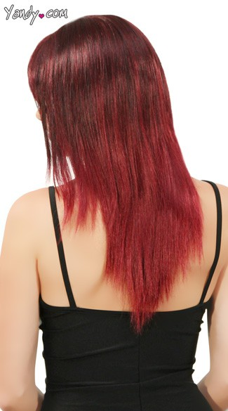 Black and Burgundy Two Toned Wig