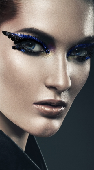 Twisted Eyes Kit, Navy Blue Glitter Eye Kit, Black and Blue Eye Kit