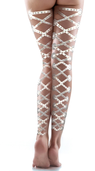 Lace Up Corset Body Stickers, Corset Legs, Lace Up Legs, Lace Up Stockings
