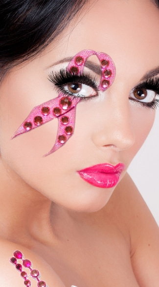 Breast Cancer Eye Sticker