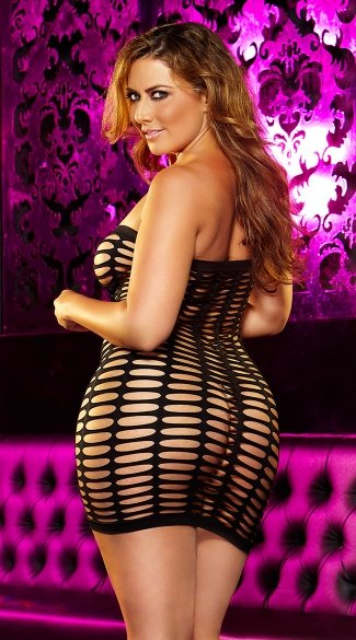 Plus Size Naughty Girl Mini Dress