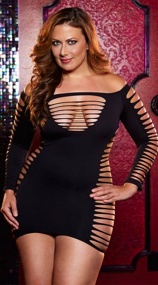 Plus Size Single Lady Mini Dress
