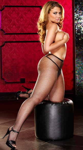 Plus Size Sexy Small Fishnet Pantyhose