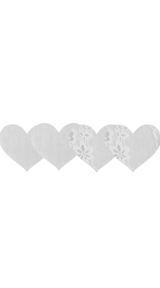 Luminous Hearts Pasties, White Lace Pasties, White Satin Pasties, Bridal Pasties, Honeymoon Pasties