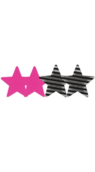 Double Vision Stars Pasties 2 Pack