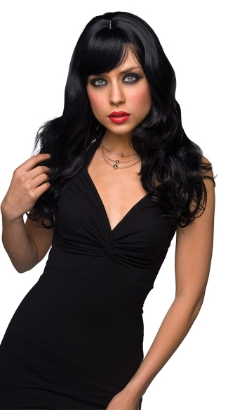 Joey Black Curly Layered Wig