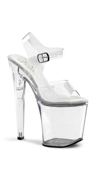 "8"" Clear Heel- Xtreme-808"