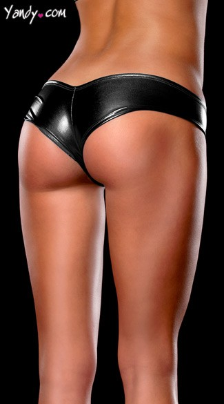 Stretch Metallic Micro Shorts