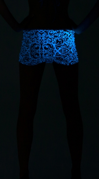 Glow in the Dark Scrunch Back Mini Skirt