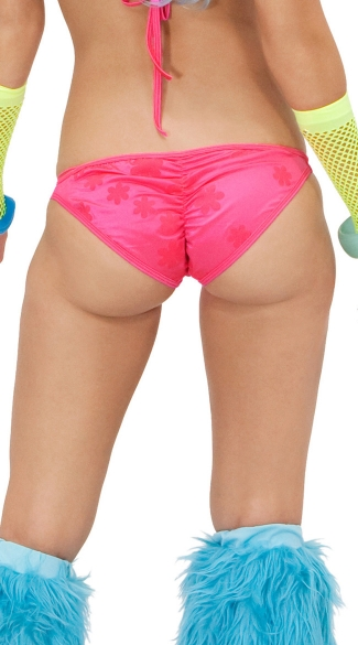 Daisy Printed Glow in the Dark Scunch Back Bottom