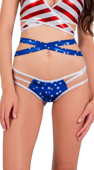 Star Spangled Strap Side Panty