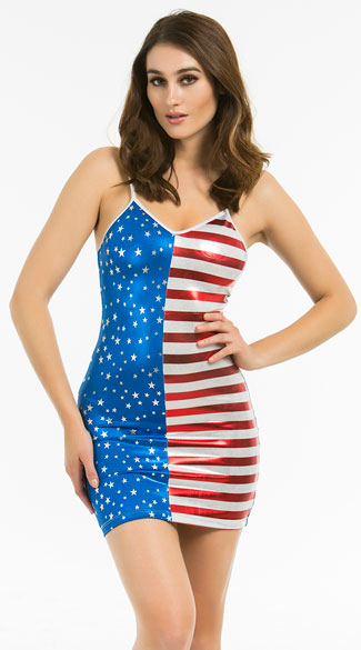 Stars And Stripes Simple Strap Dress, Sexy Spangled Spaghetti Strap Dress, Fourth Of July Sexy Dress, Fourth Of July Clothes, American Flag Sexy Dress, American Flag