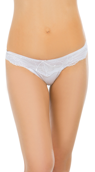 Red Carpet Ready White Thong, White Lace Thong, White Lace Panty