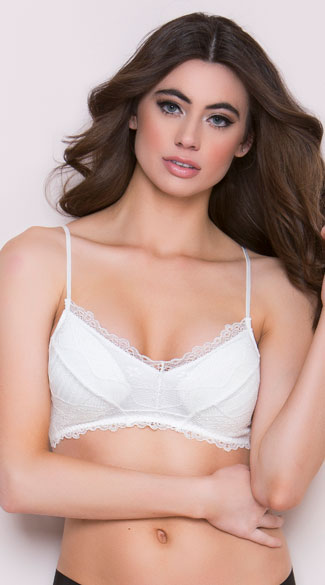 Yandy Nothing Too Strappy White Bralette, white lace bralette - Yandy.com