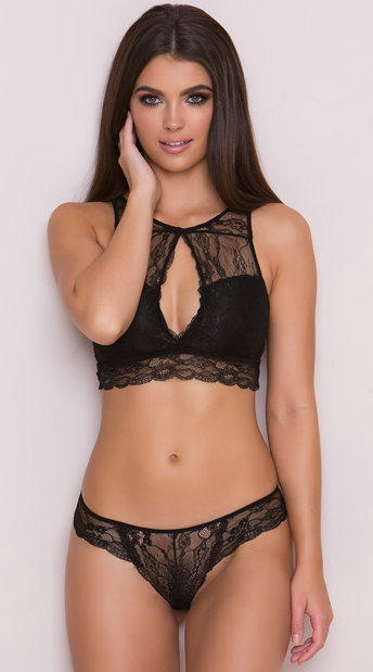 Yandy Lace It Black Thong, black lace thong - Yandy.com