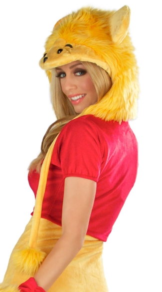 Golden Bear Costume Hood