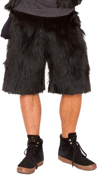 Men\'s Furry Gorilla Shorts, Gorilla Costume, Gorilla Halloween Costume