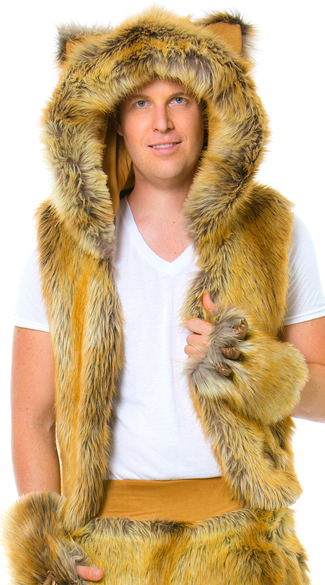 Men\'s Lion Vest, Lion Vest, Furry Vest