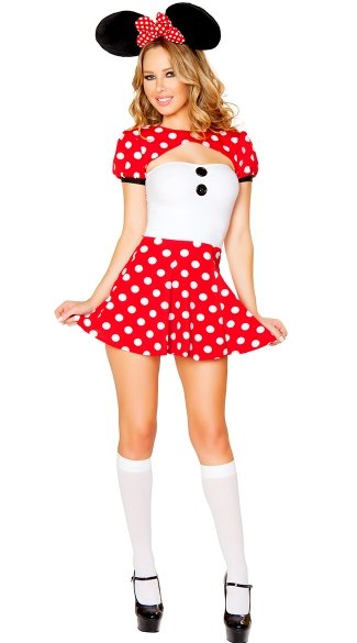 Flirty Mouse Costume, Cartoon Character Halloween Costumes, Cute Mouse Costumes
